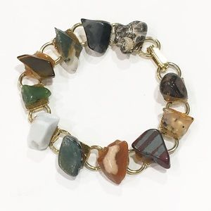 Chunky toggle stones bracelet